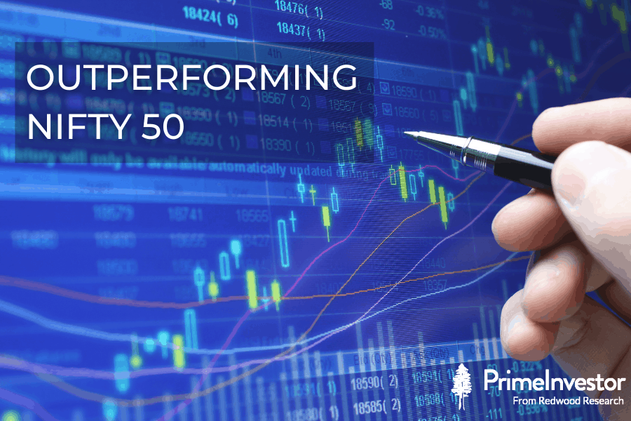 Outperforming nifty 50