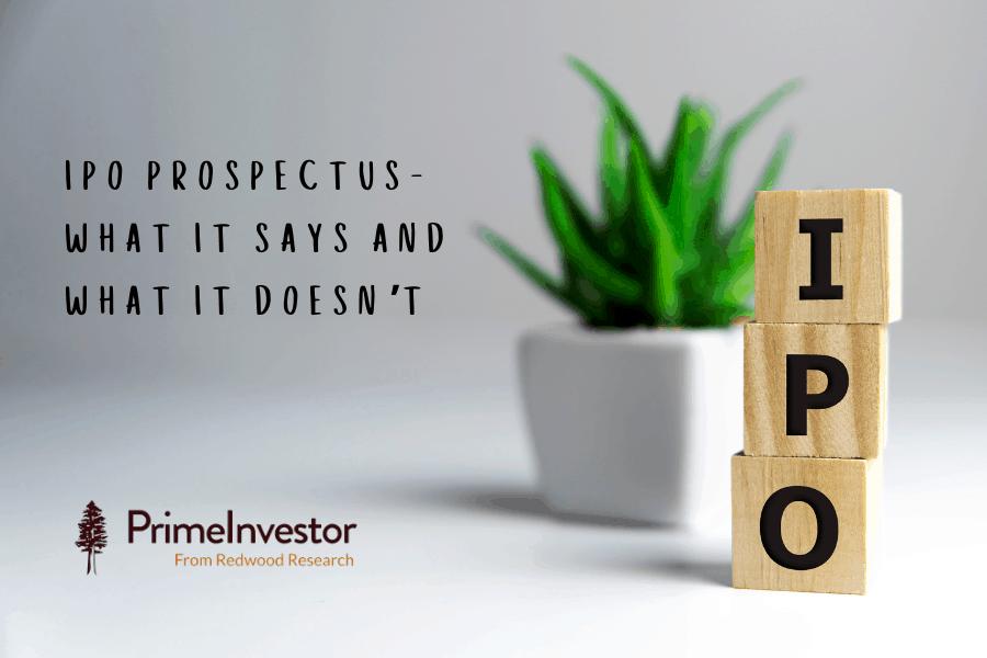 IPO Prospectus, IPO, DRHP